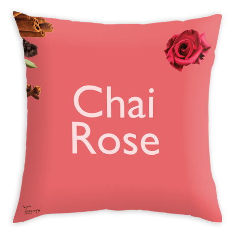 Tassyam Cushion Cover Teawery Chai Rose Satin Cushion Cover 16x16 by Tassyam