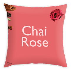 Teawery Chai Rose Satin Cushion Cover 16x16 by Tassyam, Cushion Cover, Tassyam - Best Indian Teas