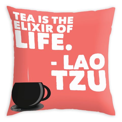 Teawery Elixir Of Life Satin Cushion Cover 16x16 by Tassyam, Cushion Cover, Tassyam - Best Indian Teas