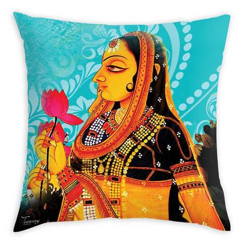 Tassyam Cushion Cover Teawery Lady Rose Cushion Cover 16x16