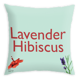 Tassyam Cushion Cover Teawery Lavender Hibiscus Satin Cushion Cover 16x16 by Tassyam