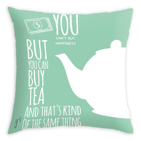 Tassyam Cushion Cover Teawery Money Can Buy Tea Cushion Cover 16x16