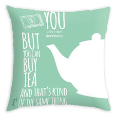Teawery Money Can Buy Tea Cushion Cover 16x16, Cushion Cover, Tassyam - Best Indian Teas