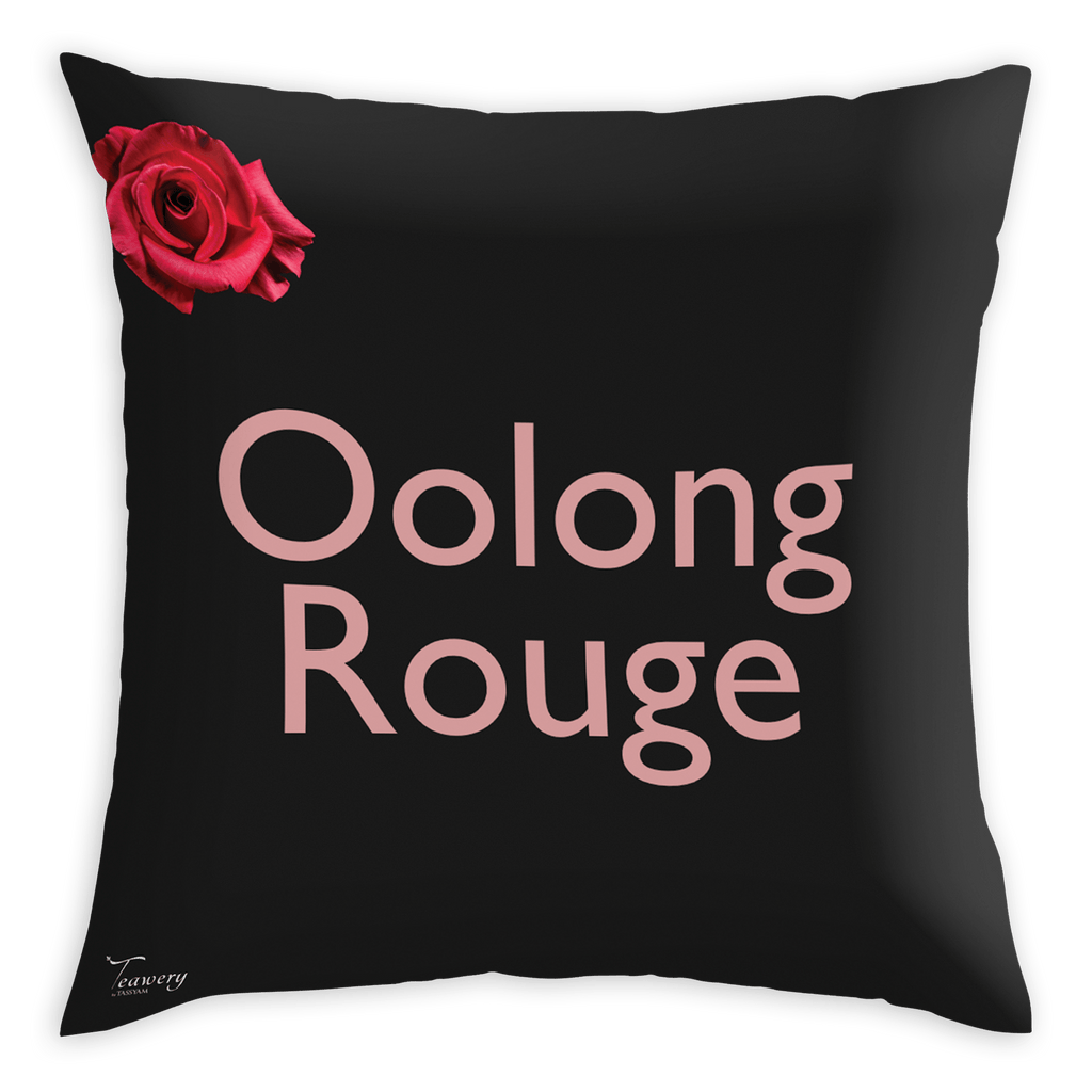 Teawery Oolong Rouge Satin Cushion Cover 16x16 by Tassyam, Cushion Cover, Tassyam - Best Indian Teas