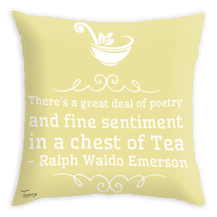 Teawery Sentiments In A Chest Of Tea Satin Cushion Cover 16x16 by Tassyam, Cushion Cover, Tassyam - Best Indian Teas