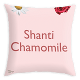 Tassyam Cushion Cover Teawery Shanti Chamomile Satin Cushion Cover 16x16 by Tassyam
