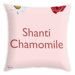 Teawery Shanti Chamomile Satin Cushion Cover 16x16 by Tassyam, Cushion Cover, Tassyam - Best Indian Teas