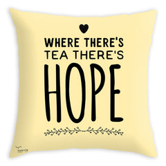 Teawery Tea & Hope Cushion Cover 16x16, Cushion Cover, Tassyam - Best Indian Teas