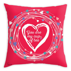 Teawery You Are My Cup Of Tea Cushion Cover 16x16, Cushion Cover, Tassyam - Best Indian Teas