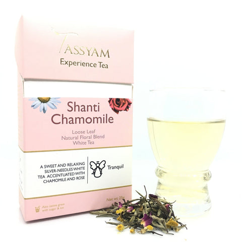 Tassyam Tea 25g Premium Box Shanti Chamomile - White Tea Blend