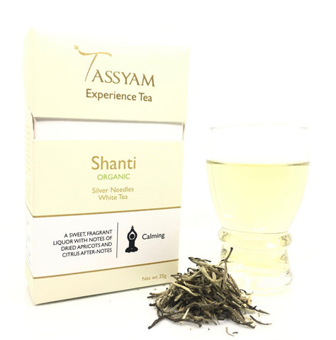 Tassyam Tea 25g Premium Box Shanti - Rare Organic Silver Needles White Tea