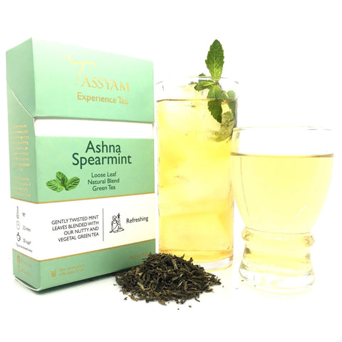 Tassyam Tea 50g Premium Box Ashna Spearmint - Green Tea Blend