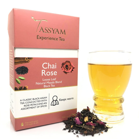 Tassyam Tea 50g Premium Box Chai Rose - Black Tea Blend