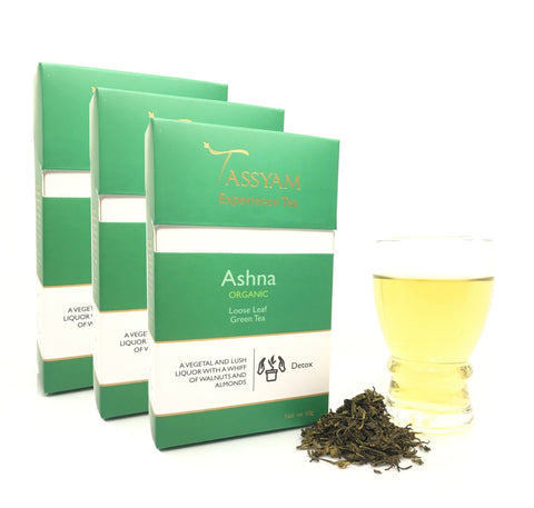 Tassyam Tea Ashna - Organic Green Tea - Triple Diwali Pack