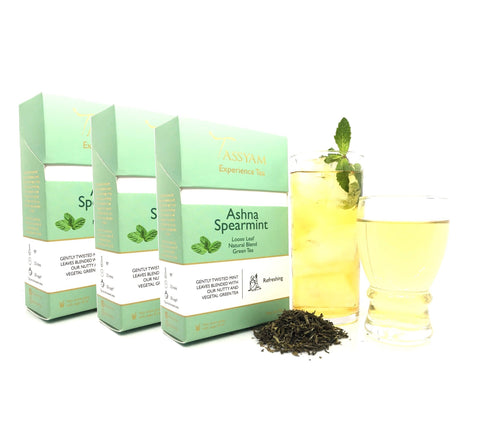 Tassyam Tea Ashna Spearmint - Green Tea Blend - Triple Diwali Pack