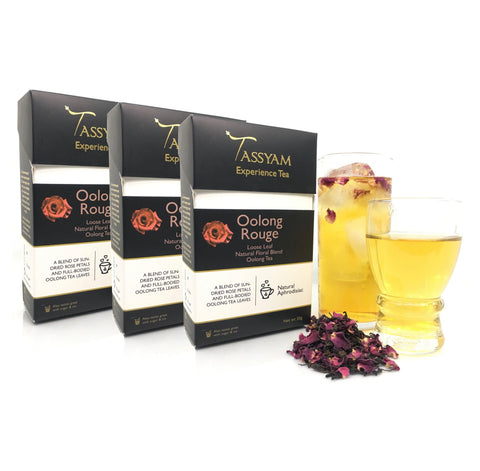 Tassyam Tea Oolong Rouge - Oolong Tea Blend - Triple Diwali Pack