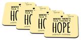 Teawery Tea And Hope Square Wooden Coaster by Tassyam (Set of 4), Wooden Coaster, Tassyam - Best Indian Teas