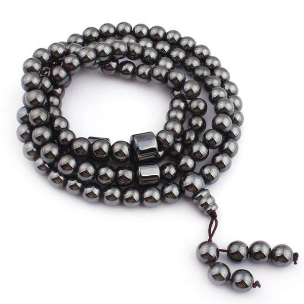 Hematite Mala Bead Bracelet for sale on ForeverEights.com
