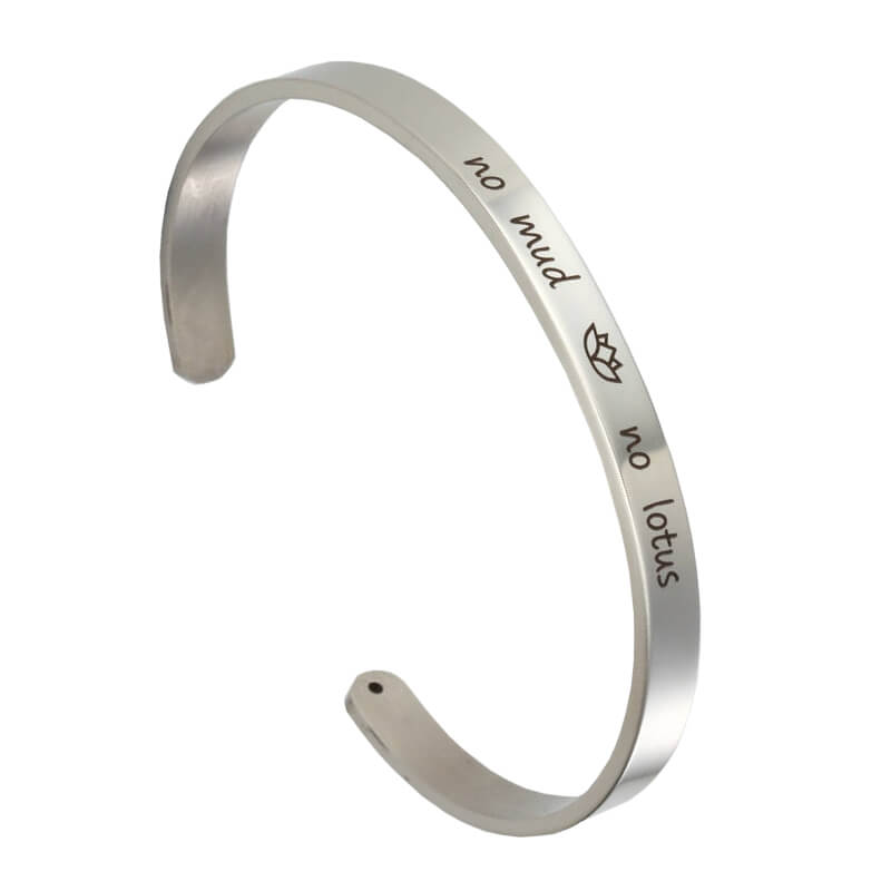 Forever Eights No Mud No Lotus Cuff Bracelet