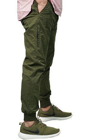 637b53c0280b TricycleBlend Best Summer Jogger Pants With Zipper In Army Green