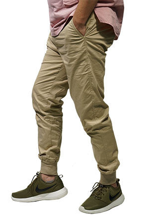 a1b30ce94854 TricycleBlend Best Summer Jogger Pants With Zipper in Apricot