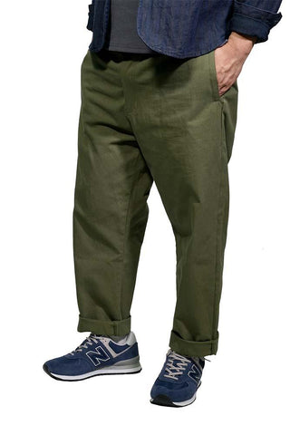 477e684278f6 Best Super Function Loose Cropped Pants In Olive Green