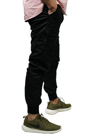 a14ea4dc0f72 TricycleBlend Best Summer Jogger Pants With Zipper In Black