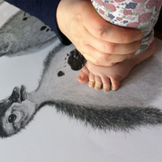 XL Swaddle Muslin - Grey Leopard - Mabel & Fox