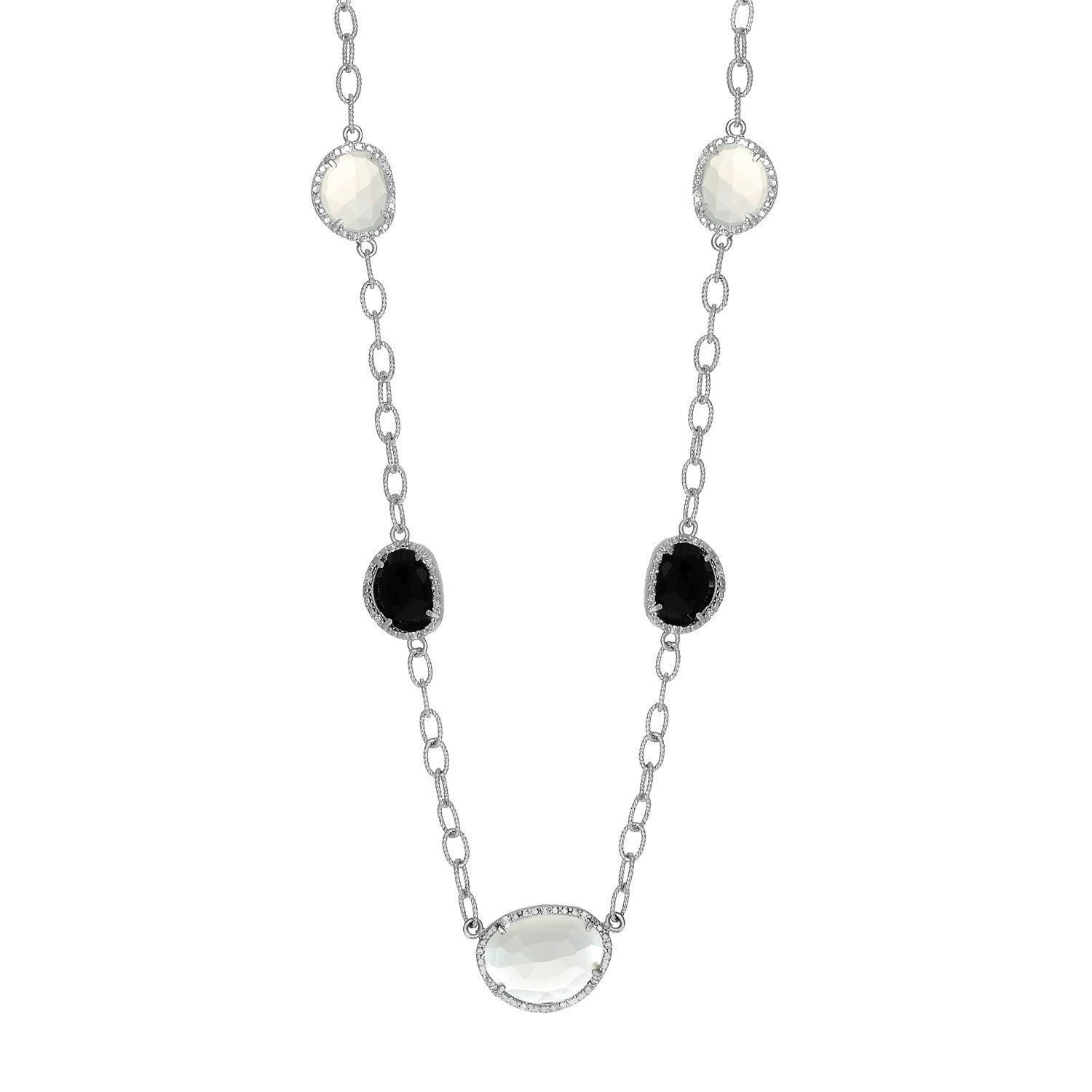 grace black diamond necklace nicolette fine pendant onyx shop jewels