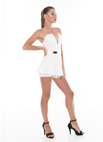 Kimy Legend Playsuit- White - Posh Fashion Girls