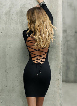 Dancing Dream Lace Up Dress - Posh Fashion Girls