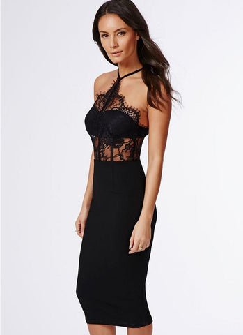 Marla Sheer Midi Dress - Posh Fashion Girls