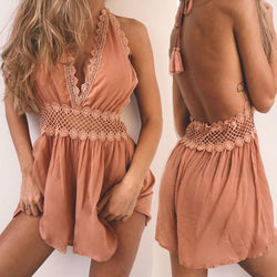 Playboy Club Romper-Bronze - Posh Fashion Girls