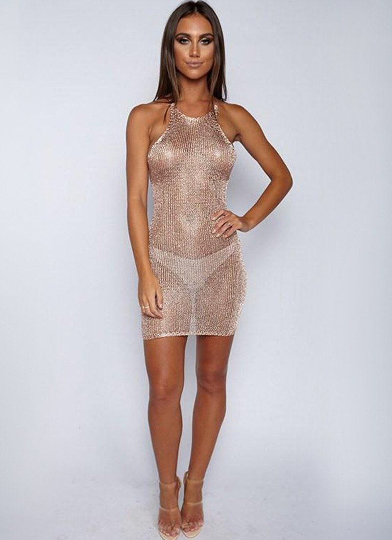 Sand In The City dress-Rose Gold - Posh Fashion Girls
