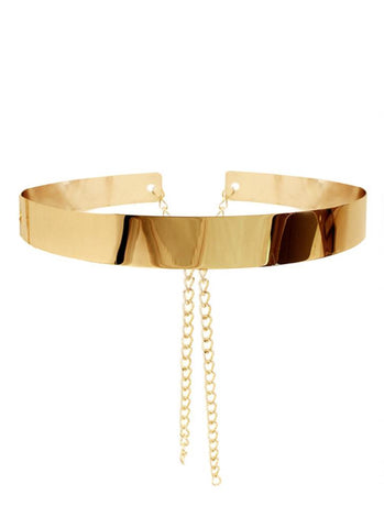PFG Band Belt- Gold - Posh Fashion Girls