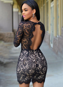 Alieva Chiq Lace Dress - Posh Fashion Girls
