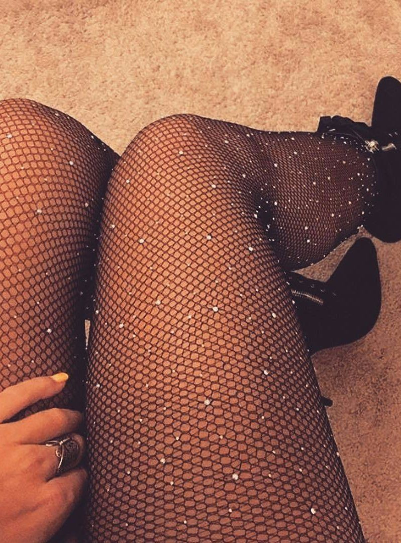 Star Shine Fishnet- Black