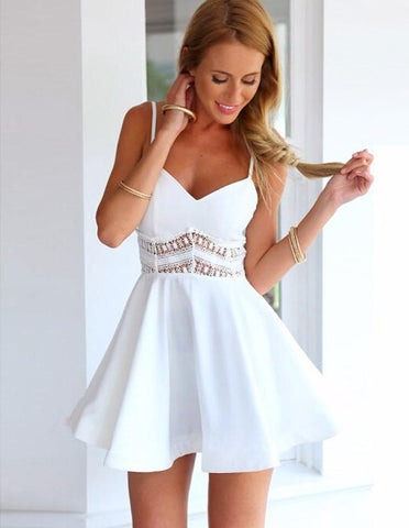 Melody Posh Dress-White - Posh Fashion Girls