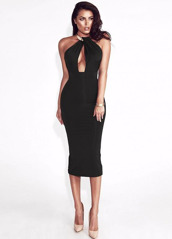 Dream Of Mid Night Party Dress-Black