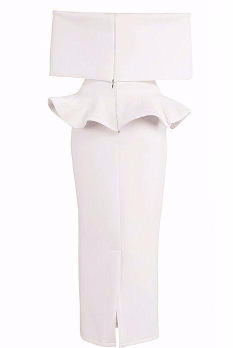 Khloe White Midi Dress - Posh Fashion Girls