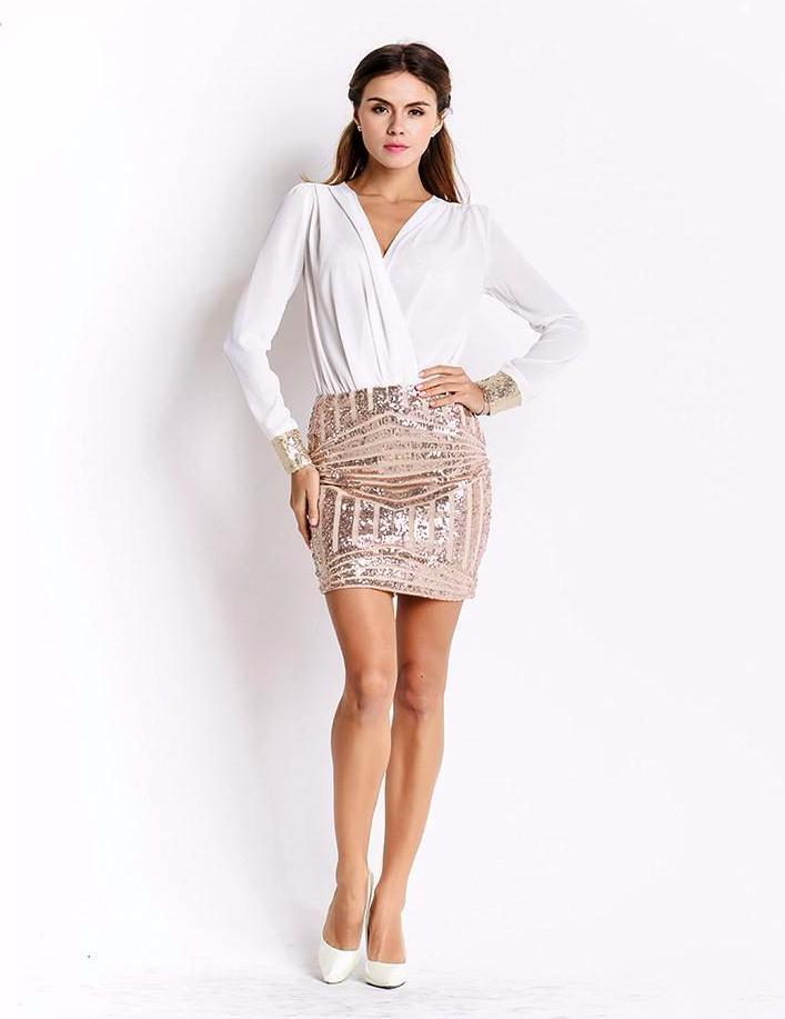 Eden Chic Dress-Gold - Posh Fashion Girls
