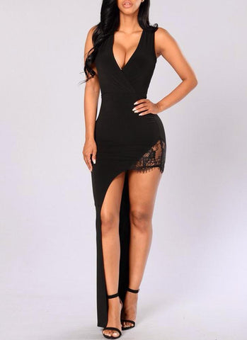 Queen Of Night Dress- Black - Posh Fashion Girls