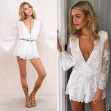 Amber chic Romper -White - Posh Fashion Girls