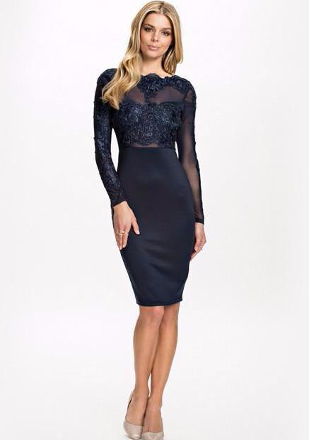 Luxy Lace Dress-Dark Blue