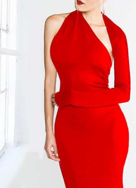 Dasha Modern Dress- Red - Posh Fashion Girls