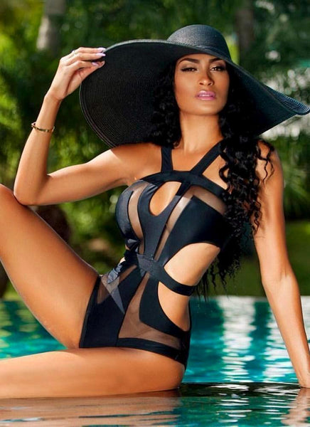Riva Mesh Monokini-Black - Posh Fashion Girls