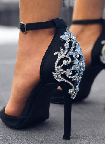 J'adore Lux Queen Shoes- Black - Posh Fashion Girls