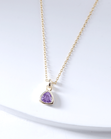 Swarovski Birthstone Necklace - February - Nakamol