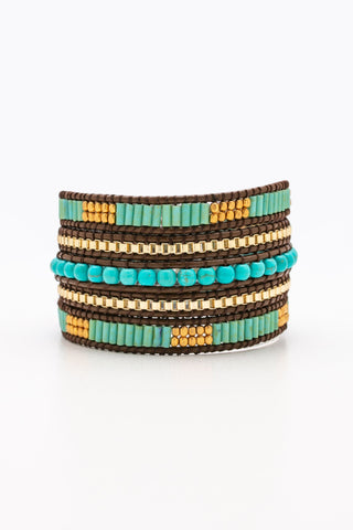 Seah Turquoise Gold Wrap - Nakamol