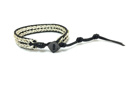 Troy Leather Chain Bracelet by Nakamol